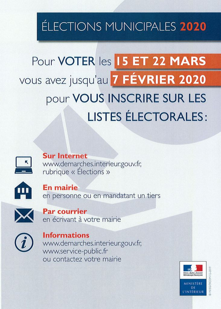 AFFICHE ELECTIONS MUNICIPALES DATES